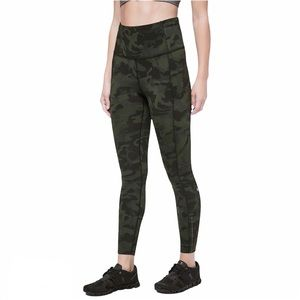 """Lululemon Fast and Free Tight 25"""" Camo Nulux Sz 4"""